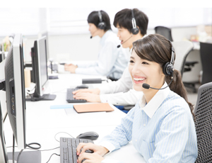 電話での問い合わせ対応とデータ入力が主なお仕事!
